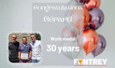 WORK MEDAL - FONTREY IRON CAST FOUNDRY IN FRANCE